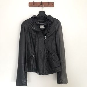 Authentic Mackage black lamb leather jacket sizeXS